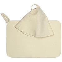 Набор для бани и сауны Классик: шапка, коврик41103Шапка и коврик для бани и сауны из 100% войлока - это оптимальный комплект необходимых предметов для всех любителей пара, способный защитить и создать комфортные условия, подарить отличное настроение.Шапка, выполненная из войлока, необходима в парной для защиты головы от перегрева. Шапка оформлена вышитой надписью Лучший банщик.Коврик- сделает комфортным ваше пребывание даже на самых горячих полках и позволит вам вволю насладится оздоравливающей и любимой процедурой. Характеристики: Материал: войлок. Размер коврика: 48,5 см х 32,5 см. Диаметр шапки по нижнему краю: 37 см. Высота шапки: 25 см. Размер упаковки: 34 см х 25 см х 4 см. Изготовитель: Китай. Артикул: 41103.