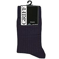 Носки мужские Griff Classic, цвет: синий. В3. Размер 45/47В3Мужские носки Griff Classic изготовлены из высококачественного сырья с добавлением полиамидных и эластановых волокон, которые обеспечивают великолепную посадку. Носки отличаются элегантным внешним видом. Удобная широкая резинка идеально облегает ногу и не пережимает сосуды, усиленные пятка и мысок повышают износоустойчивость носка, а удлиненный паголенок придает более эстетичный вид.