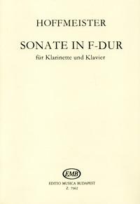 Franz Anton Hoffmeister Hoffmeister: Sonate in F-Dur fur Klarinette und Klavier franz schubert schubert militarmarsch eine serie fur jugendorchester partitur und stimmen