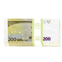Конверт для денег Эврика 200 евро, 10 шт91343Конверт для денег, украшенный изображением пачки банкнот номиналом 200 евро, станет необычным и приятным дополнением к денежному подарку.Размер в сложенном виде: 8,3 см х 16,7 см. Комплектация: 10 конвертов.