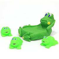 Набор игрушек для купания Семья лягушек козырьки для купания детей