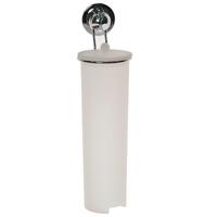 Держатель для ватных дисков EverLoc на присосках. 1024610246Держатель для ватных дисков EverLoc на присосках, выполненная из пластика и хромированной стали, станет незаменимым аксессуаром в вашей ванне. Держатель впишется в интерьер вашей ванной и позволит вам удобно и практично хранить ватные диски. Полка крепится к стене при помощи уникальных вакуумных присосок EverLoc. Присоски EverLoc держатся на всех гладких и неровных поверхностях, могут служить годами, не требуя перевешивания, а при необходимости без усилий снимаются и перевешиваются на новое место.Составные элементы присосок EverLoc:Хромированный корпус.ABC пластик - высококачественный пластик с прекрасно сбалансированными свойствами: высокая жесткость и стойкость к ударным нагрузкам, в том числе при низких температурах. Температура эксплуатации в интервале от -40°С до +80°С.Вакуумная система (черный диск). Синтетический каучук - высокополимерный материал: эластичный, износостойкий, устойчив к действию влаги, кислот и щелочей. Температура эксплуатации в интервале от -20°С до +60°С.Кольцо-уплотнитель. Силикон - это эластомер, обладающий уникальными свойствами, важнейшими из которых являются сохранение эластичности в широком интервале температур, а также биологическая инертность и долговечность. Температура эксплуатации в интервале от -100°С до +250°С. Характеристики:Материал: пластик, сталь, силикон. Диаметр основания присоски: 5,5 см. Высота контейнера с крышкой: 26,5 см. Максимальная нагрузка: 20 кг. Температура эксплуатации: -20°С до +60°С. Размер коробки: 27,5 см х 9 см х 12 см. Производитель: Швейцария. Артикул: EL-10246.Внимание!Присоску EverLoc нельзя использовать на пористых, воздухопроницаемых поверхностях, таких, как мрамор, неглазурованная керамическая плитка, незащищенное дерево.