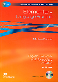 Elementary Language Practice: With Key: English Grammar and Vocabulary (+ CD-ROM) grammar and practice with answer key