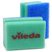 Набор губок для мытья посуды Vileda, 2 шт губка мытья для посуды paclan стандарт 10 шт