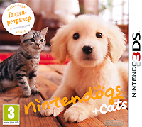 Nintendogs + Cats. Голден-ретривер и новые друзья (3DS) protective hard case w carabiner clip for nintendo 3ds black