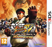 Super Street Fighter IV: 3D Edition (3DS) protective hard case w carabiner clip for nintendo 3ds black