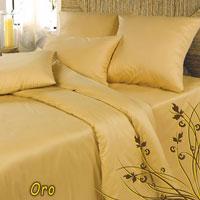 Комплект белья Oro (Дуэт КПБ, сатин, 4 наволочки 50х70, 70х70) комплект белья диана семейный кпб сатин 4 наволочки 50х70 70х70