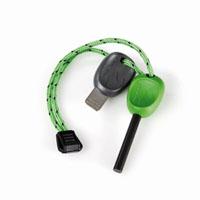 Огниво FireSteel 2.0 Scout, цвет: зеленый11113310Огниво Scout с пластмассовой ручкой поможет развести огонь в любых погодных условиях. Температура вспышки составляет 3000°C. Благодаря такому огниву можно поджечь газовую горелку, сухую траву, тонкую бумагу, кору или сосновую стружку. Работает даже при намокании. Инструкция по применению огнива: Удалите черную краску с помощью пластины или ножа.Прижимая огниво к поджигаемому предмету проведите вниз, плотно прижав пластину или нож, высекая искру до появления пламени. Характеристики: Материал: ферросплав, пластик. Количество ударов: 3000. Длина огнива: 7,5 см. Размер пластины: 5 см х 1,2 см. Производитель: Швеция. Артикул: 11113310.
