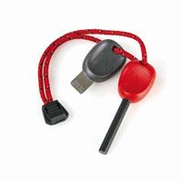 Огниво FireSteel 2.0 Scout, цвет: красный11113010Огниво Scout с пластмассовой ручкой поможет развести огонь в любых погодных условиях. Температура вспышки составляет 3000°C. Благодаря такому огниву можно поджечь газовую горелку, сухую траву, тонкую бумагу, кору или сосновую стружку. Работает даже при намокании.Инструкция по применению огнива: Удалите черную краску с помощью пластины или ножа.Прижимая огниво к поджигаемому предмету проведите вниз, плотно прижав пластину или нож, высекая искру до появления пламени. Характеристики: Материал: ферросплав, пластик. Количество ударов: 3000. Длина огнива: 7,5 см. Размер пластины: 5 см х 1,2 см. Производитель: Швеция. Артикул: 11113010.