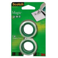 Лента клейкая Scotch  Magic , 2 шт -  Клейкая лента