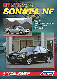 Hyundai Sonata NF 2004-2010 года выпуска с двигателями 2,0 л. и 2,4 л. Устройство, техническое обслуживание и ремонт