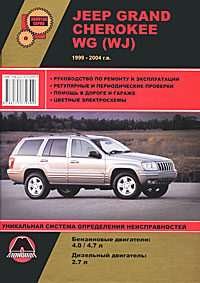 Jeep Grand Cherokee WG (WJ) 1999-2004 г.в. Руководство по ремонту и эксплуатации jeep grand cherokee iii 2004 2010 carbon