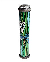 Калейдоскоп  Ирисы и бамбук . Цветная печать, фактурный рисунок, лак, зеркала, стекло, акрил, дерево. Ручная авторская работа - Развлекательные игрушки