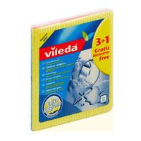 Набор салфеток Vileda, 4 шт irobot набор одноразовых салфеток для влажной уборки braava jet 10 шт