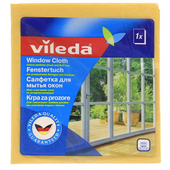 Салфетка для мытья окон Vileda, цвет: оранжевый, 36 х 40 см салфетка универсальная vileda микрофибра цвет розовый 32 х 32 см