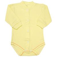 Боди детское Фреш Стайл, цвет: желтый. 37-327. Размер 80, 12 месяцев боди детское hudson baby hudson baby боди цыплёнок 3 шт бирюзово розовый