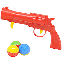 Пистолет Stellar с шариками, цвет: красный стеллар погремушка дудочка стеллар