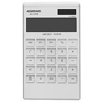 Калькулятор Assistant AC-2326, 12-разрядный, цвет: белыйAC-2326WhiteЯркий и практичный настольный калькулятор имеет матричный 12-разрядный большой дисплей, цветной пластиковый корпус (3 различных цвета) и прозрачную удобную чувствительную клавиатуру. Калькулятор идеален для нанесения фирменного логотипа. Калькулятор имеет двойную систему питания: от солнечного элемента и от батареи, - что гарантирует ему бесперебойную работу на несколько лет. С этим калькулятором Вы точно не забудете, какой расчет Вы собирались провести: подскажет дисплей с функцией отображения проводимого действия. 12-ти разрядный дисплейВычисление процентов Цветной пластиковый корпусДвойное питание Прозрачные пластиковые кнопки Отображение проводимого действияУдаление последнего введенного символа Характеристики: Размер калькулятора: 18,3 x 10,7 x 1,5 см. Размер дисплея: 9,4 см х 2,6 см. Цвет: белый. Изготовитель: Китай.