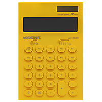 """Калькулятор """"Assistant AC-2329"""", 12-разрядный, цвет: желтый"""