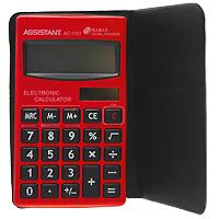 Калькулятор Assistant AC-1121, 8-разрядныйAC-1121RDСтильный карманный калькулятор в ярком цветном корпусе оснащен большим 8-разрядным дисплеем. Металлическая лицевая панель в стиле Hi-tech делает этот калькулятор модным и современным. Калькулятор имеет двойную систему питания: от солнечного элемента и от батареи, - что гарантирует ему бесперебойную работу на несколько лет. 8-разрядный дисплейВычисление процентов Двойное питание Большой дисплей ПВХ обложка Чувствительная клавиатураПластиковые кнопкиМеталлическая лицевая панель Характеристики: Размер калькулятора: 11,8 x 6,7 x 0,85 см. Размер дисплея: 5,3 см х 1,7 см. Материал: пластик, ПВХ. Цвет: красный. Изготовитель: Китай. Калькулятор, обложка ПВХ.