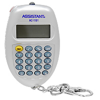 Калькулятор Assistant AC-1191, 8-разрядный, цвет: серебристыйAC-1191SLУдобный и практичный овальный калькулятор-брелок оснащен большим 8-разрядным дисплеем, удобными резиновыми кнопками и ультрафиолетовой лампочкой, которая при необходимости может служить фонариком. Калькулятор питается от батареи. 8-разрядный дисплейВычисление процентов Питание от батареи Большой дисплей Резиновые кнопки Ультрафиолетовая лампа Характеристики: Размер калькулятора: 6,7 x 4,2 x 1,6 см. Размер дисплея: 2,6 см х 1,1 см. Материал: пластик, металл. Цвет: серебристый. Изготовитель: Китай. Калькулятор, карабин.