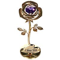 Фигурка декоративная Роза. 6749267492Декоративная фигурка выполнена в виде розы, оформленной кристаллом Сваровски. Фигурка будет вас радовать и достойно украсит интерьер вашего дома или офиса. Вы можете поставить украшение в любом месте, где оно будет удачно смотреться и радовать глаз. Кроме того, эта фигурка - отличный вариант подарка для ваших близких и друзей. Характеристики:Материал:углеродная сталь, австрийские кристаллы. Размер фигурки: 8 см х 3,5 см х 3 см. Размер упаковки: 10 см х 7,5 см х 5 см. Производитель: Китай. Артикул: 67197.Более чем 30 лет назад компанияCrystocraftвыросла из ведущего производителя в перспективную торговую марку, которая задает тенденцию благодаря безупречному чувству красоты и стиля. Компания создает изящные, качественные, яркие сувениры, декорированные кристалламиSwarovskiразличных размеров и оттенков, сочетающие в себе превосходное мастерство обработки металлов и самое высокое качество кристаллов.