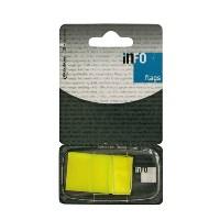 Закладки самоклеящиеся Info, цвет: желтый, 50 шт772805Многоразовые пластиковые закладки Info с липким слоем- эффективный способ выделить важную информацию без повреждения поверхности документа или книги.Характеристики: Размер закладки: 2,5 см х 4,3 см. Цвет: желтый.