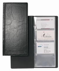 Визитница Visifix, на 128 визиток, цвет: черный визитница durable visifix 2385 58 переносная для 200 визиток темно серый
