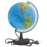 Глобус Rotondo с физической и политической картами мира. Диаметр 20 смRG20/DB/LГеографический глобус Rotondo с физической и политической картами мира станет незаменимым атрибутом обучения не только школьника, но и студента. Глобус дает представление о строении поверхности Земли и о политическом устройстве мира. На нем отображены линии картографической сетки, рельеф суши и морского дна, элементы почвенно-растительного покрова, теплые и холодные течения, показаны границы государств, столицы и крупные населенные пункты. Обозначения представлены на русском языке. Глобус имеет функцию подсветки от электрической сети. Глобус является уменьшенной и практически не искаженной моделью Земли и предназначен для использования в качестве наглядного картографического пособия, а также для украшения интерьера квартир, кабинетов и офисов. Красочность, повышенная наглядность визуального восприятия взаимосвязей, отображенных на глобусе объектов и явлений, в сочетании с простотой выполнения по нему различных измерений делают глобус доступным широкому кругу потребителей для получения разнообразной познавательной, научной и справочной информации о Земле. Характеристики: Общая высота:31 см. Диаметр глобуса:20 см. Масштаб:1:63000000. Размер упаковки:21 см x 20,5 см x 21 см.