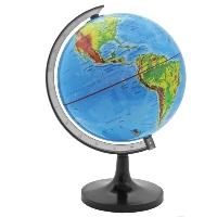Глобус Rotondo с физической картой мира. Диаметр 14,2 смRG142/PHГеографический глобус Rotondo с физической картой мира станет незаменимым атрибутом обучения не только школьника, но и студента. На глобусе отображены линии картографической сетки, гидрографическая сеть, рельеф суши и морского дна, элементы почвенно-растительного покрова, крупнейшие населенные пункты, теплые и холодные течения.Глобус является уменьшенной и практически не искаженной моделью Земли и предназначен для использования в качестве наглядного картографического пособия, а также для украшения интерьера квартир, кабинетов и офисов. Красочность, повышенная наглядность визуального восприятия взаимосвязей, отображенных на глобусе объектов и явлений, в сочетании с простотой выполнения по нему различных измерений делают глобус доступным широкому кругу потребителей для получения разнообразной познавательной, научной и справочной информации о Земле. Характеристики: Общая высота:24 см. Диаметр глобуса:14,2 см. Масштаб:1:90000000. Размер упаковки:14,5 см x 14,5 см x 15 см.
