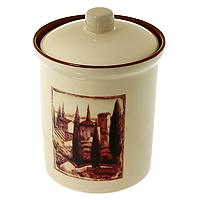 Банка для продуктовTerracota Итальянская деревня 0,9 лTLY301-3-V-ALTLY301-3-V-ALБанка Итальянская деревня, выполненная из жаропрочной керамики и покрытая высококачественной глазурью, станет незаменимым помощником на кухне. В ней будет удобно хранить разнообразные сыпучие продукты, такие как кофе, крупы, макароны или специи. Емкость легко закрывается крышкой. Оригинальный дизайн позволит сделать такую емкость отличным подарком на любой праздник. Характеристики:Материал: керамика. Объем: 0,9 л. Диаметр основания: 10 см. Высота (без крышки): 13 см. Высота (с крышкой): 16 см. Размер упаковки: 12 см х 16,5 см х 12 см. Изготовитель: Китай. Артикул: TLY301-3-V-AL.