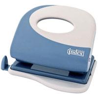 Дырокол Index Fusion, цвет: серо-голубой, белый. IFP705 дырокол deli vivid e0123 20 листов в ассортименте