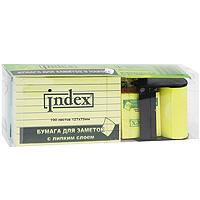 """Набор бумаги для заметок """"Index"""" с липким слоем, 8 блоков, 1 рулон"""