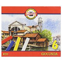 Мелки масляные  Gioconda , 6 цветов -  Мелки и пастель