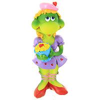 Фигурка декоративная Черепаха с букетом17134Декоративная фигурка в виде черепахи в фиолетовом платье и с ярким букетом, несомненно, вызовет улыбку и станет оригинальным украшением интерьера. Вы можете поставить фигурку в любом месте, где она будет удачно смотреться и радовать глаз. Также декоративная фигурка отлично подойдет в качестве стильного подарка близким и друзьям.Характеристики:Материал:полирезина. Высота фигурки: 14,5 см. Изготовитель: Китай. Артикул: 17134.