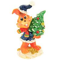 Декоративная фигурка Заяц с елочкой. 20511338Декоративная фигурка, выполненная в виде зайца в синей шубке с опушкой, держащего в лапках новогоднюю елочку, будет вас радовать и достойно украсит интерьер. Фигурка украшена блестками.Вы можете поставить фигурку в любом месте, где она будет удачно смотреться и радовать глаз. Характеристики:Материал:пластик. Высота фигурки: 9 см. Изготовитель: Китай. Артикул: 20511.