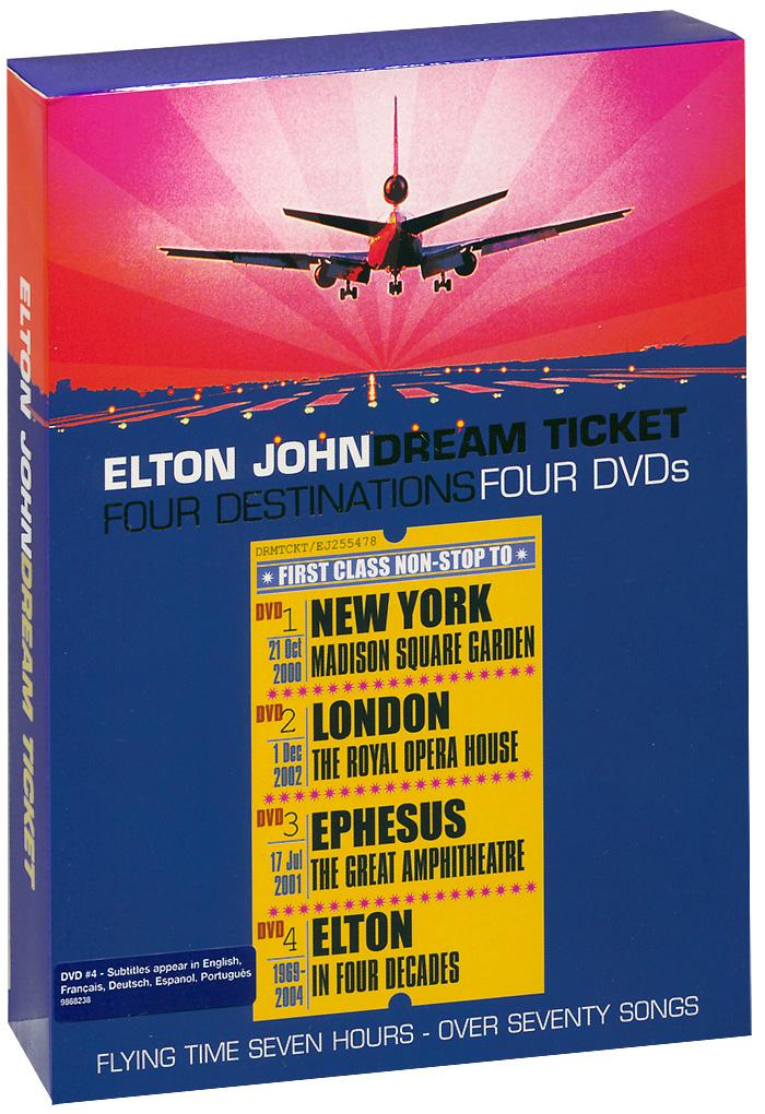 Elton John: Dream Ticket (4 DVD) элтон джон elton john the very best of elton john 2 lp