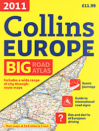 Collins Big Road Atlas Europe sweden supetouring road atlas 1 400 000