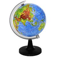 Глобус Rotondo с физической картой мира. Диаметр 10,6 смRG106/PHГеографический глобус Rotondo с физической картой мира станет незаменимым атрибутом обучения не только школьника, но и студента. На глобусе отображены линии картографической сетки, гидрографическая сеть, рельеф суши и морского дна, элементы почвенно-растительного покрова, крупнейшие населенные пункты, теплые и холодные течения.Глобус является уменьшенной и практически не искаженной моделью Земли и предназначен для использования в качестве наглядного картографического пособия, а также для украшения интерьера квартир, кабинетов и офисов. Красочность, повышенная наглядность визуального восприятия взаимосвязей, отображенных на глобусе объектов и явлений, в сочетании с простотой выполнения по нему различных измерений делают глобус доступным широкому кругу потребителей для получения разнообразной познавательной, научной и справочной информации о Земле. Характеристики: Общая высота:18 см. Диаметр глобуса:10,6 см. Масштаб:1:120000000. Размер упаковки:15 см x 20,5 см x 8,5 см.