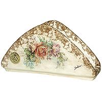 Салфетница ЭлиантоLCS996-EL-ALСалфетница Элианто, выполненная из керамики, декорирована классическим цветочным рисунком на бежевом фоне. Такая салфетница великолепно украсит праздничный стол. Характеристики:Материал:керамика.Размер салфетницы: 20,5 см х 5,5 см х 10,5 см.Размер упаковки: 13 см х 13,5 см х 19 см.Изготовитель: Италия.Артикул: LCS996-EL-AL.