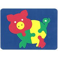 Бомик Пазл для малышей Свинка бомик пазл для малышей коврик мозаика
