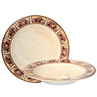 Набор тарелок Натюрморт, 2 штLCS353V-ALНабор керамических тарелок Натюрморт состоит из суповой тарелки и обеденной тарелки. Края тарелки оформлены изображением картин с натюрмортами.Характеристики:Материал: керамика. Диаметр суповой тарелки: 24 см. Высота суповой тарелки: 4 см. Диаметр обеденной тарелки: 25,3 см. Размер упаковки: 27 см х 26,5 см х 8 см. Производитель: Италия. Артикул: LCS353V-AL.