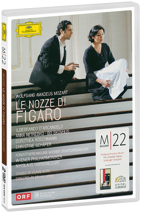 Mozart, Nicolaus Harnoncourt: Le Nozze Di Figaro (2 DVD) gorgeous 50cm length thick golden figaro chain necklace for men