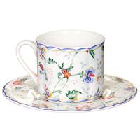 Чайная пара БукингемIM15018E-A218ALЧайная пара Букингем сочетает в себе изысканный дизайн с максимальной функциональностью. Чашка с блюдцем выполнены из керамики и декорированы цветочным узором. Красочность оформления придется по вкусу и ценителям классики, и тем, кто предпочитает утонченность и изысканность.Такая чайная пара станет отличным сувениром для ваших друзей и близких. Характеристики:Диаметр чашки по верхнему краю: 8 см.Высота чашки: 7 см.Объем чашки: 200 мл.Диаметр блюдца: 16 см.