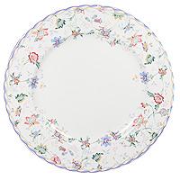 """Обеденная тарелка """"Букингем"""" прекрасно подойдет для сервировки вторых блюд. Она изготовлена из керамики и оформлена цветочным узором, который придется по вкусу и ценителям классики, и тем, кто предпочитает утонченность и изысканность.  Такая тарелка украсит сервировку вашего стола и подчеркнет прекрасный вкус хозяина, а также станет отличным подарком.  Тарелка пригодна для использования в микроволновой печи."""