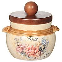 Банка для продуктов LCS Элианто Tea 0,5 л LCS670PLT-EL-ALLCS670PLT-EL-ALБанка для сыпучих продуктов Элианто. Tea изготовлена из высококачественной керамики. Классический цветочный рисунок на бежевом фоне выглядит особенно привлекательно. Крышка выполнена из натурального дерева и снабжена резиновым кольцом-уплотнителем для лучшей фиксации. Характеристики: Материал: керамика. Диаметр банки по верхнему краю (без крышки): 9,2 см. Высота банки (без крышки): 8,5 см. Высота банки (с крышкой): 12 см. Объем банки: 0,5 л. Размер упаковки: 13,5 см х 12,5 см х 14,5 см. Изготовитель: Италия. Артикул: LCS670PLT-EL-AL.