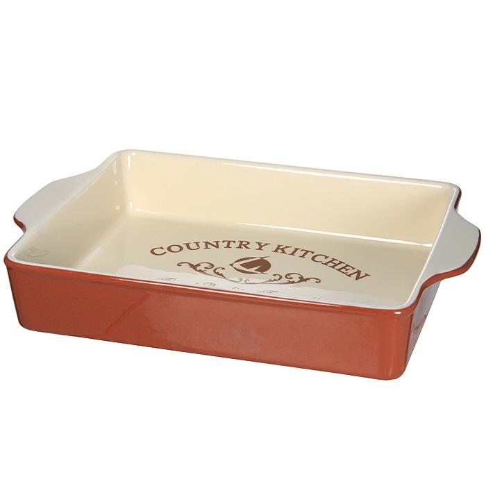 Блюдо для выпечки Terracotta Кухня в стиле Кантри TLY1709-CK-ALTLY1709-CK-ALДля всех любителей домашней выпечки это блюдо будет отличным выбором. Форма выполнена из жаропрочной керамики и покрыта высококачественной глазурью. Преимущества керамической посуды:отсутствие выделений химических примесей;равномерный нагрев;долгое сохранение температуры;сохранение витаминов и других ценных питательных веществ.Блюдо Кухня в стиле Кантри в шоколадно-сливочных тонах станет отличным подарком для ваших друзей и близких. Характеристики:Материал: керамика. Размер блюда (с ручками): 32,5 см х 22,5 см х 6 см. Размер блюда (без ручек): 27 см х 22,5 см. Размер упаковки: 33,5 см х 23,5 см х 7 см. Производитель: Италия. Изготовитель: Китай. Артикул: TLY1709-CK-AL.