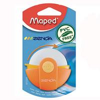 Ластик Maped Zenoa, цвет: оранжевый011320Оригинальный ластик Zenoa в поворотном защитном футляре из пластика. Легко удаляет следы чернографитных карандашей, а футляр защищает ластик от загрязнений и увеличивает его срок службы. Не содержит ПВХ. Характеристики: Размер ластика: 4,5 см x 4,5 см x 1 см. Изготовитель: Китай.