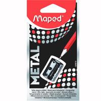 Точилка металлическая Maped Satellite, цвет: черный034019Надежная и простая в использовании металлическая точилка Satellite на одно отверстие для стандартных карандашей без контейнера.Характеристики: Размер: 2,5 см x 1,5 см x 1 см. Изготовитель: Китай.