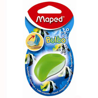 Точилка Maped Bulbo, цвет: салатовый0071004Яркая и компактная точилка Bulbo с мини-контейнером легко поместиться в любой пенал. Характеристики: Размер: 3 см x 4,5 см x 3 см. Материал: пластик, металл. Изготовитель: Китай.